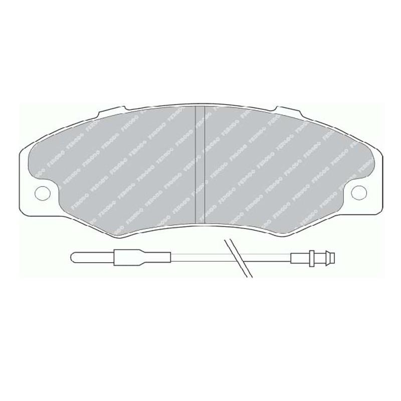 Diskinės stabdžių trinkelės FTH 534 (EGT 321555)