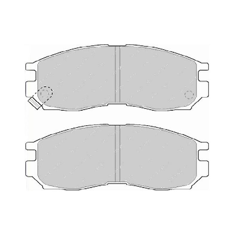 Diskinės stabdžių trinkelės EGT 321476