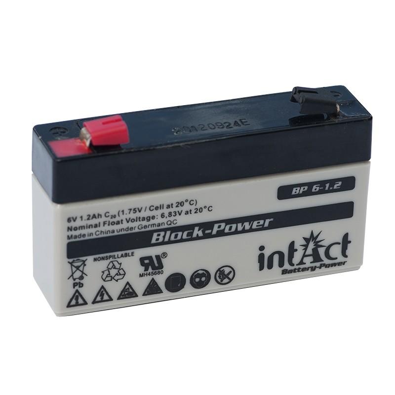 IntAct BP6-1.2 6V 1.2Ah AGM VRLA akumuliatorius