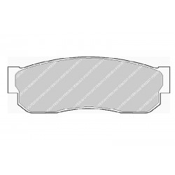 Дисковые тормозные колодки FTH 293 (EGT 321429)
